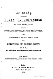 an essay concerning human understanding sparknotes