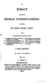 who is the author of essay on human understanding Table of contents an essay concerning human understanding epistle to the reader 12 book i: neither principles nor ideas are.
