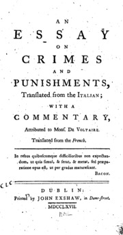 an essay on punctuation joseph robertson  an essay on crimes and punishments translated from the italian a commentary attributed