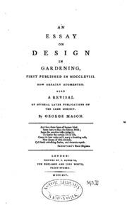 george mason essay on design in gardening An essay on design in gardening by george mason.