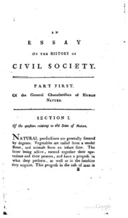 An essay on the history of civil society adam ferguson