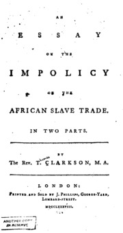 african slave trade essay Free essay: it was very common for the slaves to have scars on the back or blood all over the body slaves' lives did not matter to anyone they were treated.