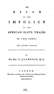 Essay on the african slave trade