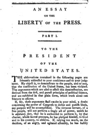 An Essay On The Liberty Of The Press Respectfully Inscribed To The  An Essay On The Liberty Of The Press Respectfully Inscribed To The    George Hay  Free Download Borrow And Streaming  Internet Archive