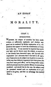 an essay on morality The articles in this special section express a common theme: the use of information technology in society is creating a rather unique set of ethical issues that requires the making of new moral choices on the part of society and has spawned special implications for its members.