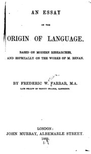 rousseau essay on the origin of languages full text