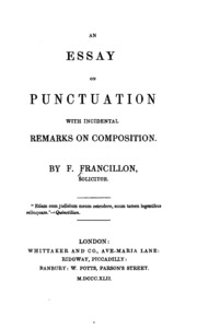 punctuation audio streaming internet archive an essay on punctuation incidental remarks on composition