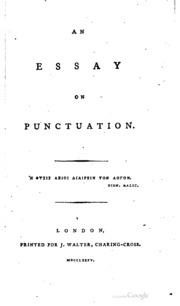 an essay on sculpture hayley william  an essay on punctuation