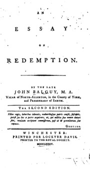 an essay on punctuation joseph robertson an essay on redemption