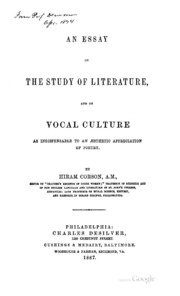 an essay towards the present and future peace of europe william an essay on the study of literature and on vocal culture as indispensable to an aesthetic