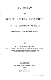 an essay on western civilization in its economic aspects  an essay on western civilization in its economic aspects
