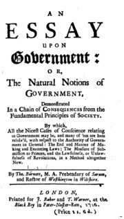 an essay on the first principles of government priestley joseph an essay upon government or the natural notions of government