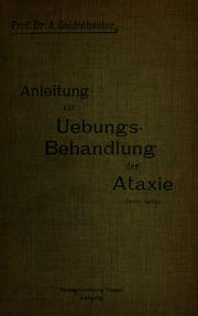 Anleitung zur Übungsbehandlung der Ataxie