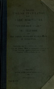 Annotated English translation of Urdu roz-marra, or