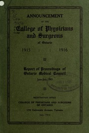 College of Physicians and Surgeons of Ontario - Posts ...