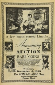 Announcing an auction of rare coins of silver and gold, etc., medals, transportation and other tokens, paper money, odd & curious money of the world, military decorations, ... numismatic literature, to be sold by mail to the highest bidder ... [12/04/1935]