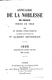 Annuaire de la noblesse de france et des maisons for Hauterive 03