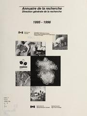 Vol 1995-96: Annuaire de la recherche, 1995-1996