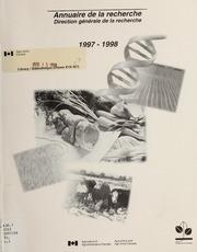 Vol 1997-98: Annuaire de la recherche, 1997-1998