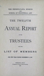 Annual report, 1888