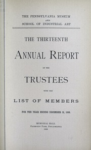 Annual report, 1889