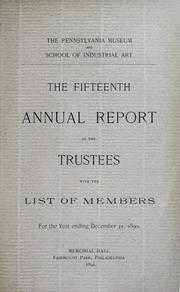 Annual report, 1891