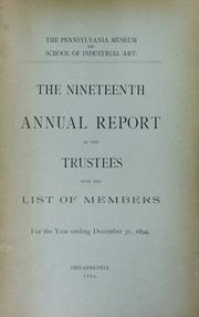 Annual report, 1894