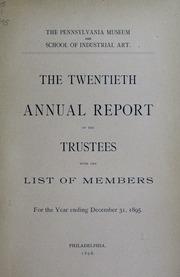 Annual report, 1895