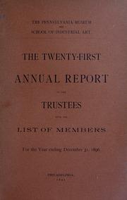 Annual report, 1896
