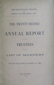 Annual report, 1897