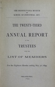 Annual report, 1899