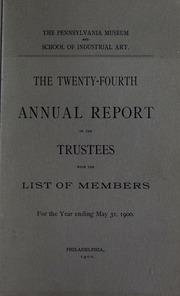 Annual report, 1900