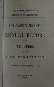 Annual report, 1903