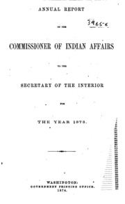 annual report of the commissioner of indian affairs to the of the interior united