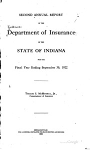 Annual Report of the Department of Insurance of the State ...