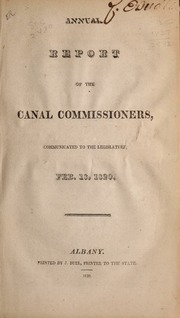 Annual report of the Canal ...