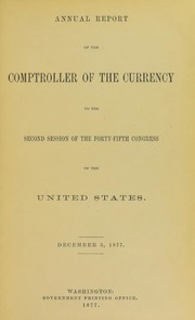 Picture of U.S. Comptroller of the Currency Annual Reports