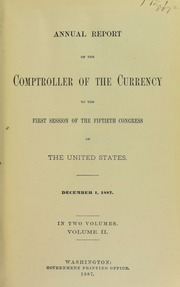 Annual Report of the Comptroller of the Currency, Vol. 2