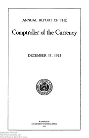 Annual Report of the Comptroller of the Currency (pg. 72)