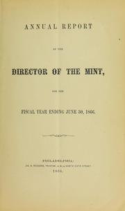 U.S. Mint Report (1866)