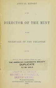U.S. Mint Report (1876)