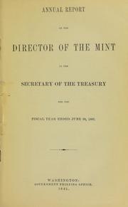 U.S. Mint Report (1881)