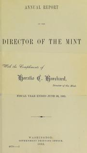 U.S. Mint Report (1882)