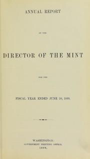 U.S. Mint Report (1899)