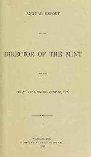 U.S. Mint Report (1905)