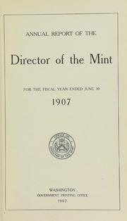 U.S. Mint Report (1907)