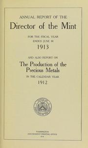 U.S. Mint Report (1913)
