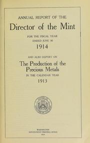 U.S. Mint Report (1914)