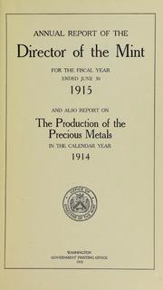 U.S. Mint Report (1915)