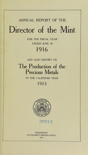 U.S. Mint Report (1916) (pg. 136)